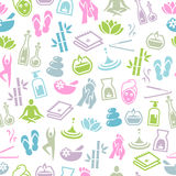 Wellness and Relaxation Seamless Pattern Stock Images