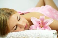 Wellness - ritratto di bellezza Fotografie Stock