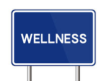 Wellness Road Sign Royalty Free Stock Images
