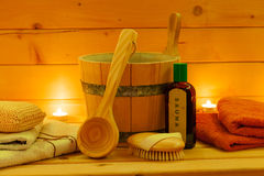 Wellness Sauna Royalty Free Stock Photography