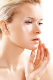 Wellness & skin care. Pure female model face, soft Stock Photography