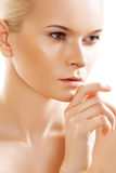 Wellness, skin care. Sensual spa purity face model Stock Photos