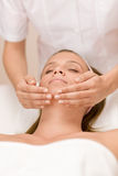 Wellness skin care - woman in salon. Wellness skin care - young woman in beauty treatment Stock Photography