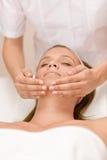 Wellness skin care - woman in salon Stock Photography