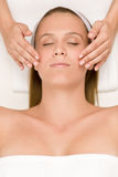 Wellness skin care - young woman. In beauty treatment Royalty Free Stock Image