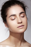 Wellness & spa beauty. Model with clean skin & natural make-up Royalty Free Stock Photography