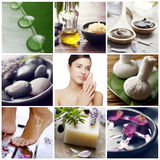 Wellness spa collage Royalty-vrije Stock Afbeelding