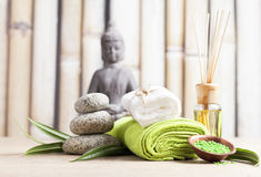 Wellness and spa. Concept,relaxation items Stock Image