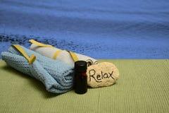 Wellness spa producten en oceaan Royalty-vrije Stock Foto