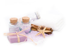 Wellness spa products Royalty Free Stock Photos