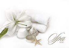 Wellness spa products Royalty Free Stock Photo