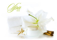 Wellness spa products Royalty Free Stock Image