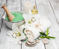 Wellness and spa scene Royalty Free Stock Photo