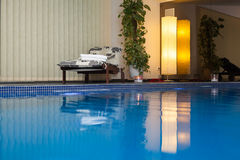 Wellness and Spa swimming pool Stock Images