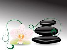 Wellness stones Stock Photography