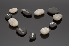 Wellness stones Royalty Free Stock Photography