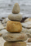 Wellness stones. Pile of smooth stones or small rocks sometimes called wellness stones Royalty Free Stock Photos