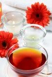 Wellness tea. Cup of wellness tea - relaxing and wellness Stock Photo
