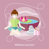 Wellness Tourism. Woman in a Beauty and Spa Salon Royalty Free Stock Image