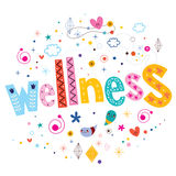 Wellness typography lettering text design Stock Images