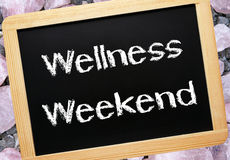 Wellness weekend in chalk Stock Photo