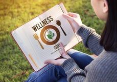 Wellness-Wohl-Gesundheits-gesundes Lebensstil-Konzept Stockfotografie