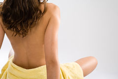 Wellness-woman from behind Royalty Free Stock Images