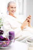 Wellness, woman relaxing in the beauty salon Royalty Free Stock Image