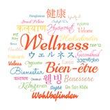 Wellness word cloud Royalty Free Stock Photos