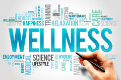 Wellness. Word cloud, fitness, sport, health concept