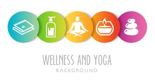 Wellness And Yoga Background vector illustration