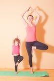 Wellness yoga exercises Royalty Free Stock Images