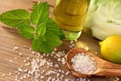 Wellness z naturalnymi produktami Zdjęcie Royalty Free