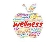 Wellnessapfelwort-Wolkencollage Lizenzfreies Stockbild