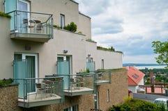 Wellnesshotell med terrassen Royaltyfri Fotografi