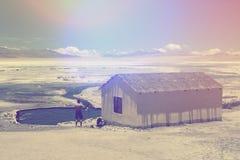 Wellnesshut in Atacama-woestijn Stock Afbeeldingen