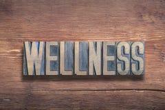Wellnessordträ arkivfoto