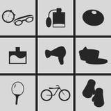 Wellnesssymboler vektor illustrationer