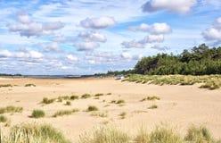 Wells затем пляж моря стоковая фотография
