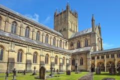 Wells-Abtei, Somerset, England Lizenzfreie Stockfotos