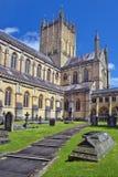 Wells-Abtei, Somerset, England Lizenzfreie Stockbilder