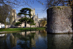 Wells Cathedral & Bishops Palace - Wells - England Royalty Free Stock Photo