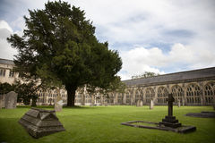 Wells cathedral courtyard, Somerset Stock Image
