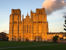Wells Cathedral at Dusk Stock Photography