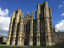 Wells Cathedral Facade Royalty Free Stock Photography