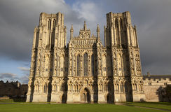 Wells Cathedral front entrance Royalty Free Stock Photo