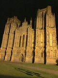 Wells Cathedral at Night Royalty Free Stock Photos