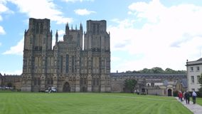 Wells Cathedral Somerset, England. The Cathedral Church of Saint Andrew, commonly known as Wells Cathedral rnengland,united kingdom stock video footage