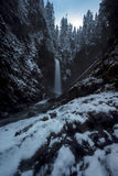 Wells Creek Falls Winter Stock Photos