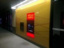 Wells Fargo Bank ATM maszyna Obrazy Royalty Free